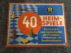 40 Heimspiele haussers von 1965 register German board game