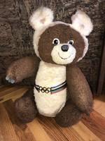 Retro plush must bear teddy bear 1980 Moscow Olympic mascot 50 cm