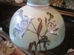 Wonderful turquoise large chandelier hood!