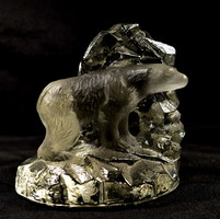 Sea kosta sweden - swedish craftsman modern glass polar bear sculpture - sculpture!