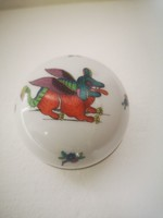 Antique Herend bonbonier chinoseire dragon