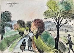 János Nyergesi 1961 Nyergesújfalu - Bajót road