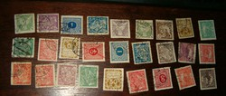 27 Pieces of very early Czechoslovakia circa 1918 circa 1920 hradkany doplatit etc. stamp lot in one