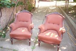 2-drb bécsi barokk fotel