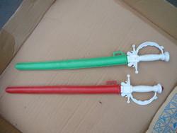 2 pcs plastic swords