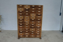 Retro industrial chest of drawers, old tool cabinet
