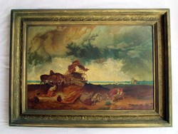 A copy of Michael Munkácsy's painting Storm in the Wilderness. - No signal