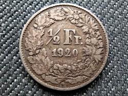Svájc .835 ezüst 1/2 Frank 1920 B (id36023)