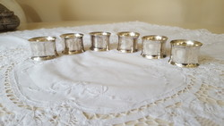 Elegáns,ezüstözött szalvétagyűrű 6 db.