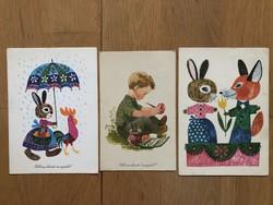 Aranyos Húsvéti képeslapok - Demjén Zsuzsa rajz  - ár / db