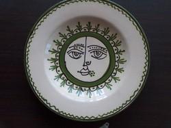 Majolica decorative plate, wall bowl, flawless