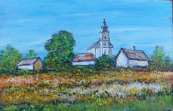 Pula village - landscape (24.2x15.8 cm)