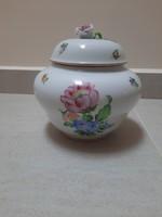 Porcelain bonbonier with large Herend floral pattern