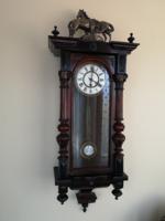 Renovated old German wall clock