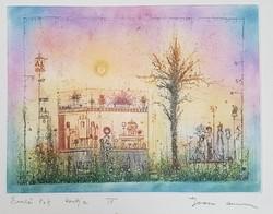 Gross Arnold - Garden of Memories iii. 23 X 31 cm colored etching