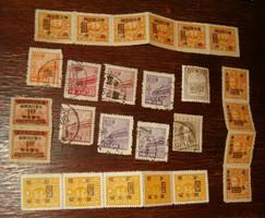26 pcs tienamen line prc chinese stamp china correlations sun yat sen japanese occupation overprint