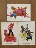 Aranyos Húsvéti képeslap - Tomaska Irén rajz   ár / db