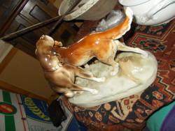 Sérült Royal Dux Porcelán.Kutyapár