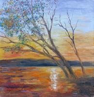 Twilight - landscape (15.9x16.2 cm)