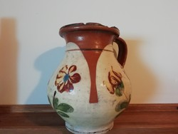 Rare Transylvanian floral patterned silk, désháza