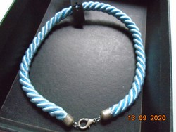 Silk rope twisted necklace