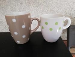 2 pcs polka dot mug