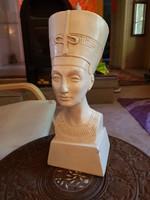Nefertiti Egyiptomi nagyméretű részletgazdag  szobor 31cm-es