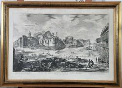 Giovanni B. Piranesi (1720-1778): Veduta delle Terme di Diocletiano, 1774