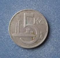 Csehszlovákia - 5 korona 1925