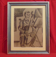 Schönberger mark - musician - very nicely drawn portrait (with invoice)