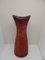 Zsolnay eosin ox blood glazed cracked vase.