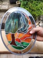Tiffany landscape oval beautiful 31cm