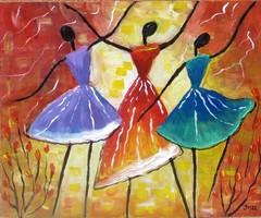 B.Tóth iris - abstract painting auction!