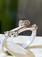 Gyönyörűséges ezüst gyűrű Citrin kövekkel