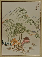 Chinese silk painting, hand painted