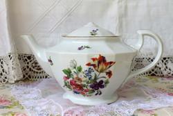 H & c (haas & czjzek) schlaggenwald (1918-45) fine porcelain teapot
