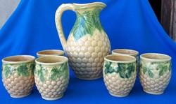 Marked ceramic wine set