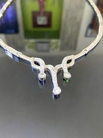 Stunning silver necklace with cubic zirconia stones