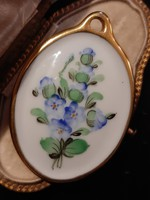 Herend forget-me-not pendant