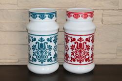 Retro tejüveg fűszertartók/tárolók