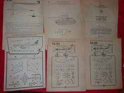 Old russian and gd bag mockup assembly drawings instruction sheets in one as shown