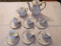 Zsolnay flower pattern coffee set