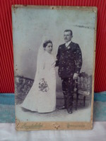 Antique wedding photo Wednesday Budapest studio photo