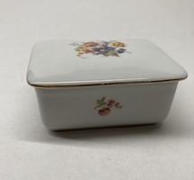 Hollóház porcelain bonbonier, jewelry holder