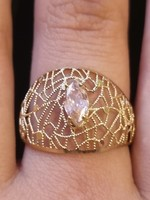 14K gold lace ring