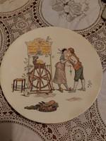 Sarreguemines wall plate