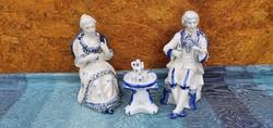 Porcelain princely couple