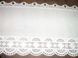 Beautiful vintage style lacy stained glass curtain drapery
