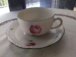 Herend tertia marked Viennese rosé tea set