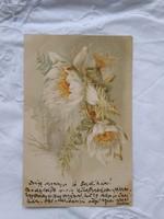 Antique litho / lithographic Art Nouveau floral postcard / greeting card 1899 schmidt edgar dresden-budapest